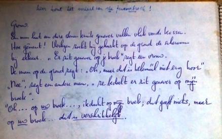 Een verhaal van pap over jenever/ genever.