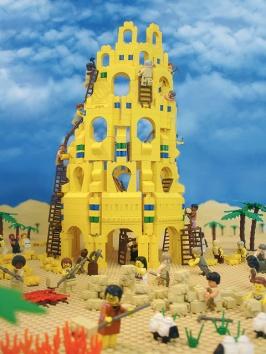 De toren van Babel die ervoor gezorgd heeft dat we op aarde allemaal verschillende talen spreken.
