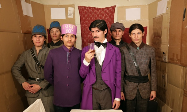 The Angulo brothers do their version of The Grand Budapest Hotel in the documentary  The Wolfpack.